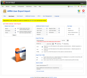Exporting You Joomla Users